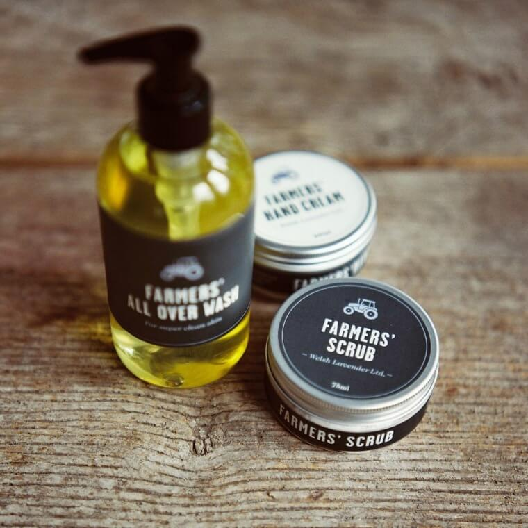Farmers Welsh Lavender Collection. All Over Wash £16, Hand Cream £12 & Scrub £14
