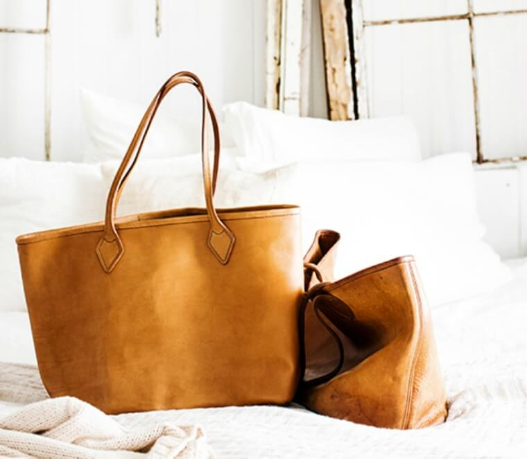 The Perfect brown leather tote bag, Kara Rosenlund x Wootten Collab Leather Bag