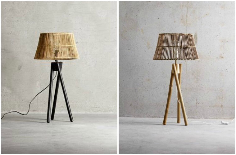 Bedside Lamps - Three Leg Lamp in Rattan