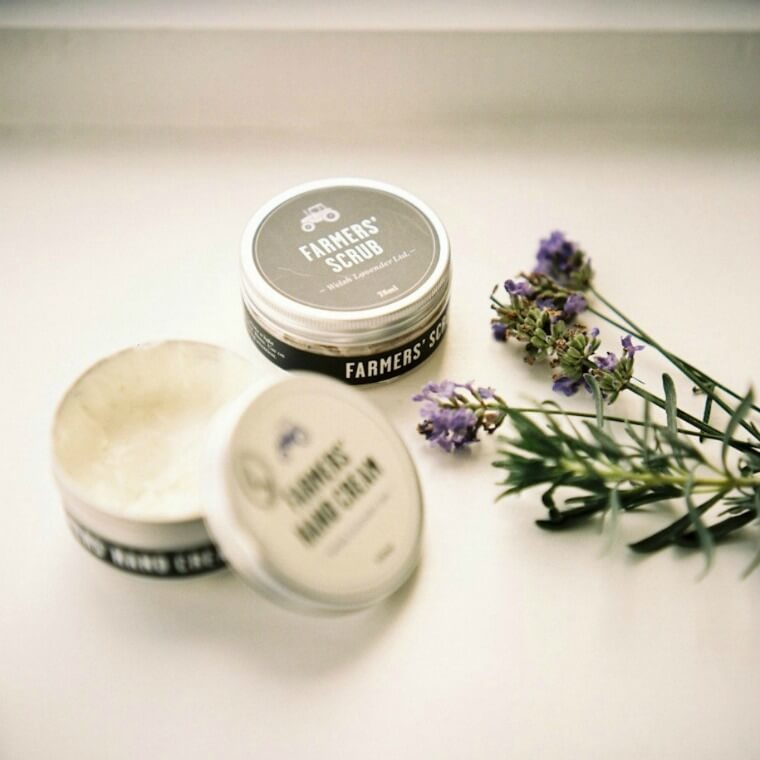 Farmers' Welsh Lavender Hand cream & Scrub