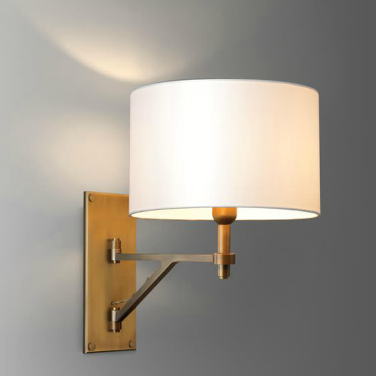 Brass Swing Arm Wall Light