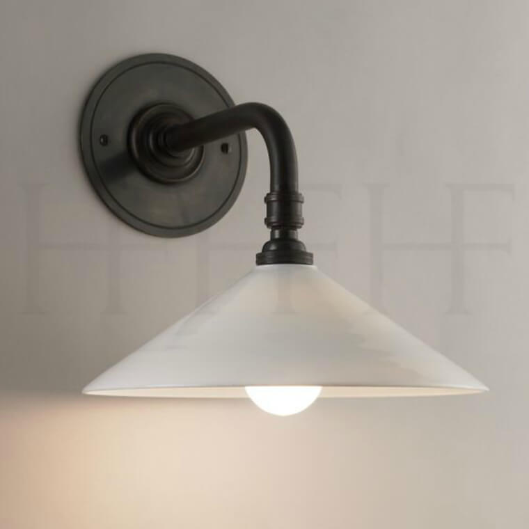 Glass Coolie Wall Light