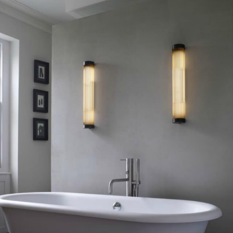 Pillar Bathroom Light-Weathered Wall Light