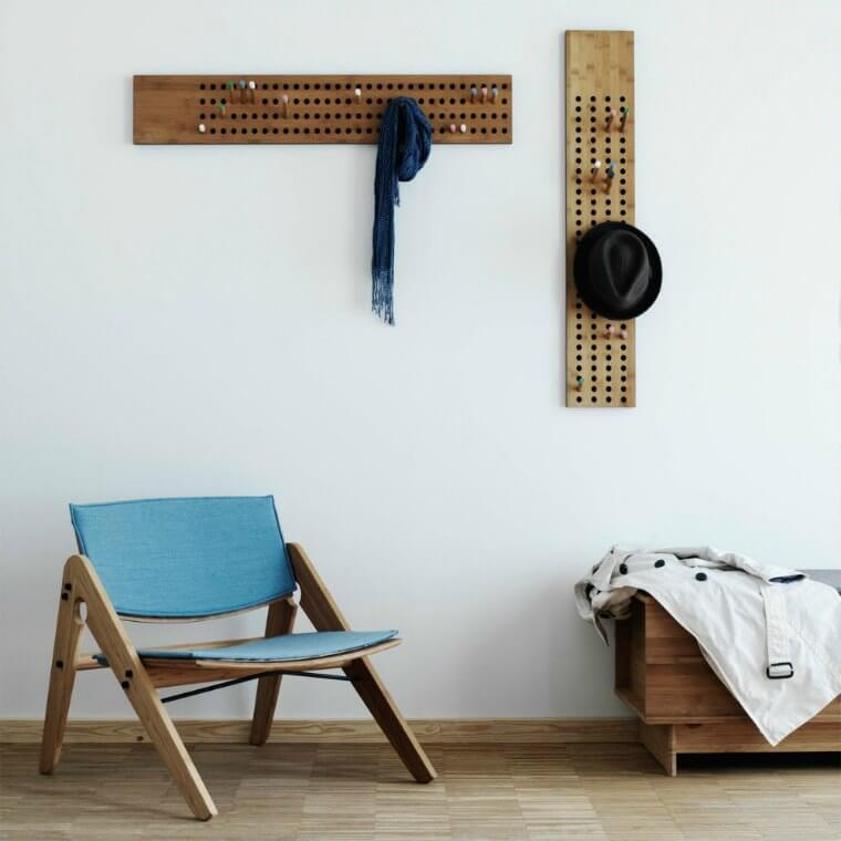 Wall hooks: Horizontal & Vertical scoreboard wall hanging coat hooks