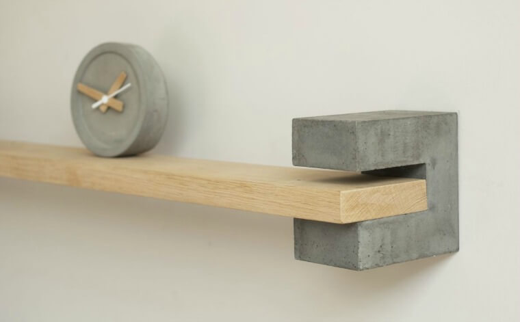 Such & Such Wild & Wood Concrete & wood shelf & bracket