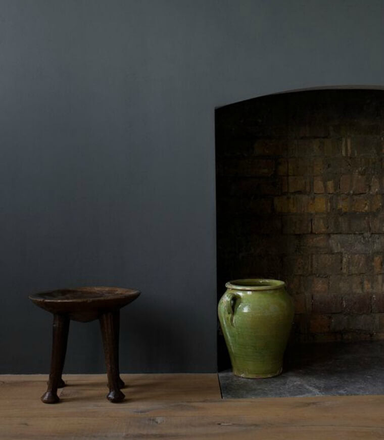 A beautiful image of the Aged Black paint colour by Cassandra Ellis of Atelier Ellis