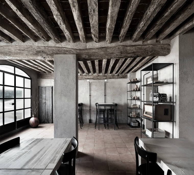 La Ganea restaurant in a converted farmhouse in Italy by Architectural Firm Studio Mabb, featured on Dezeen