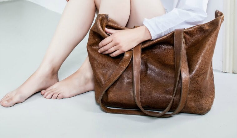 The perfect brown leather tote bag, Philomijn Day Bag
