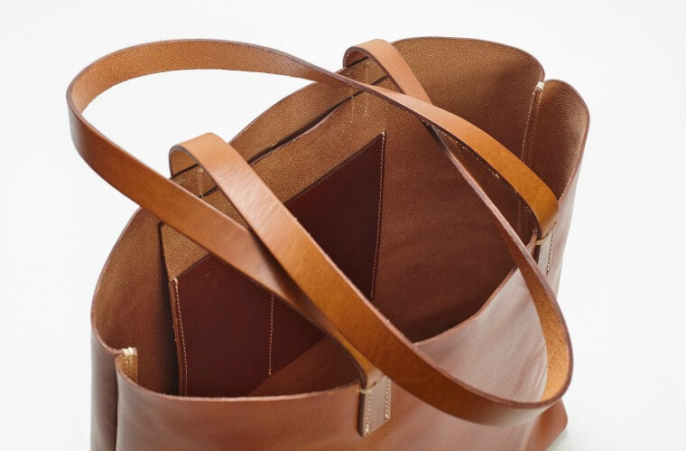 The Perfect brown leather tote bag, Vintage Tote Bag by WP+Standard
