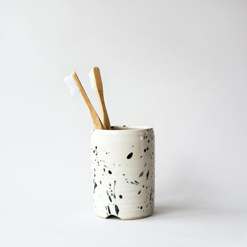 Stoneware Toothbrush Holder - Speckle
