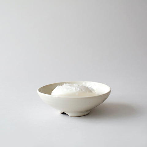 Stoneware Soap Dish - White