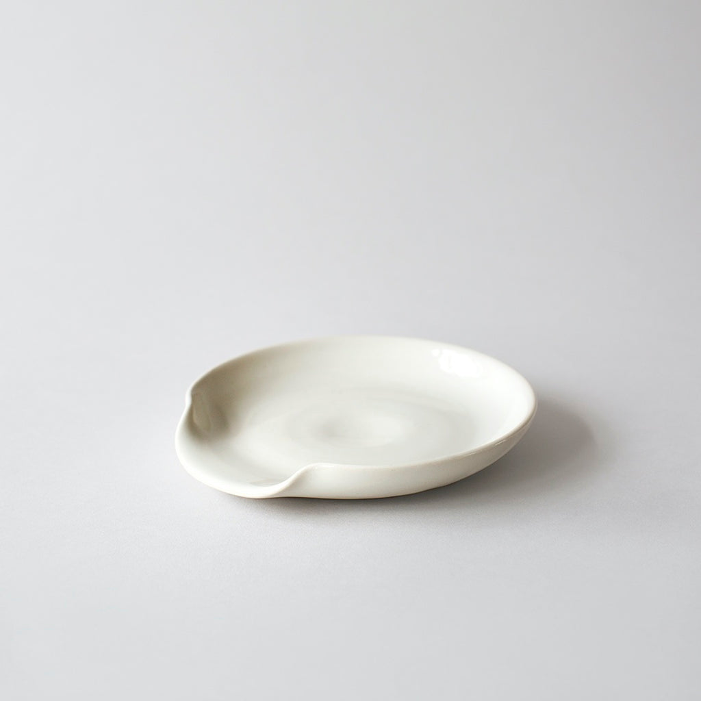 Stoneware Spoon Rest - White