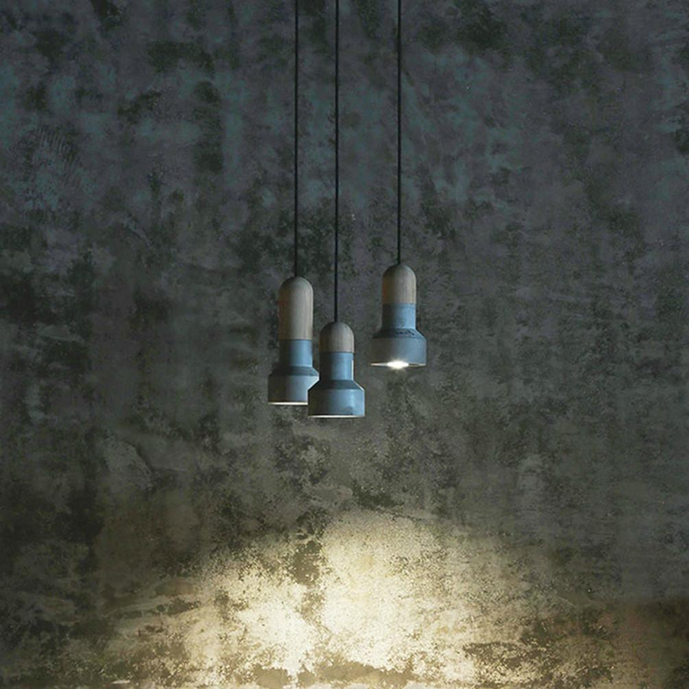 Concrete & Bamboo Pendant Light