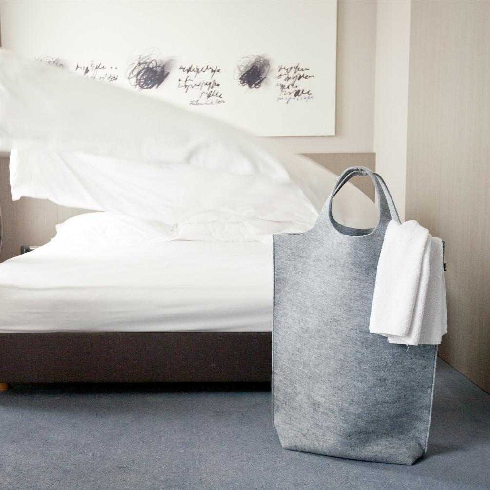 Hendee XL Laundry/Storage Bag - Light Grey
