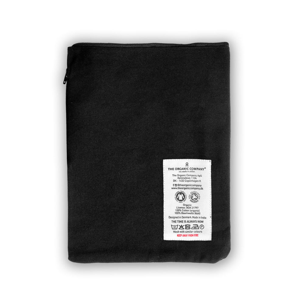 Organic Cotton Small Zip Pouch - Black