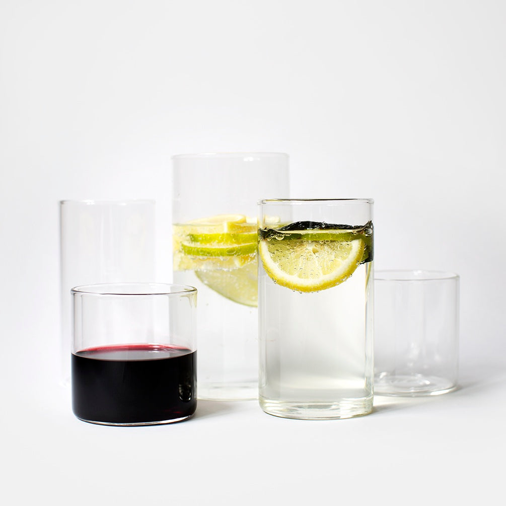 Large Glass Tumblers - Pack of 6