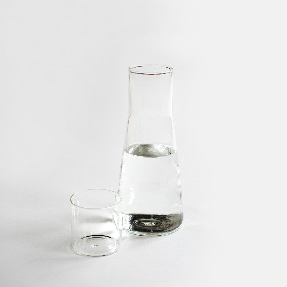 Classic Glass Carafe - With Glass Tumbler