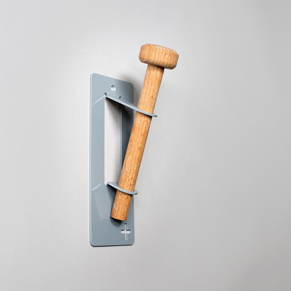 Single Wall Hook - Grey / Green