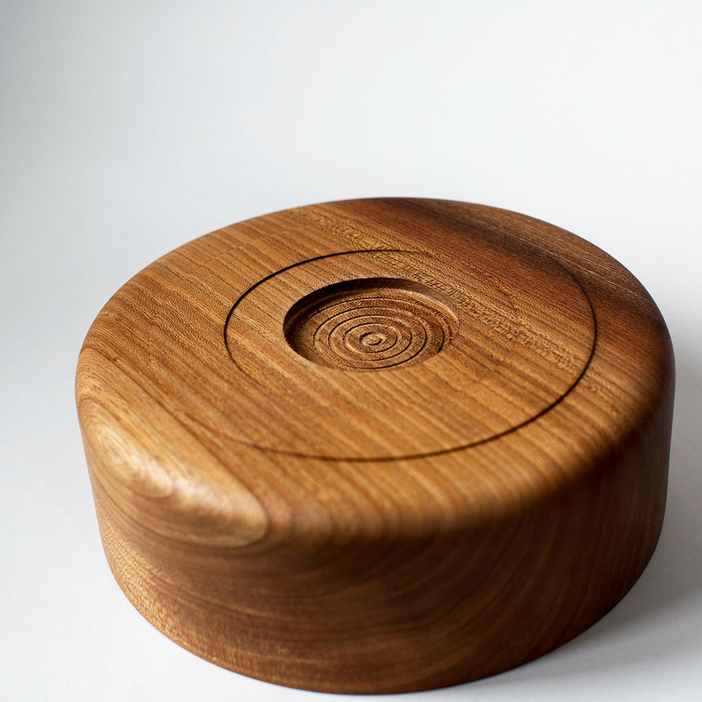 Straight Sided Wooden Bowl - Elm