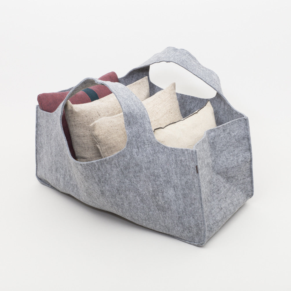 Torbuschka Felt Storage Bags (Light Grey)