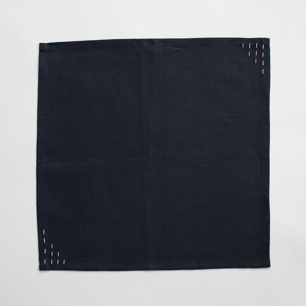 Navy Linen Napkins - Set of 4