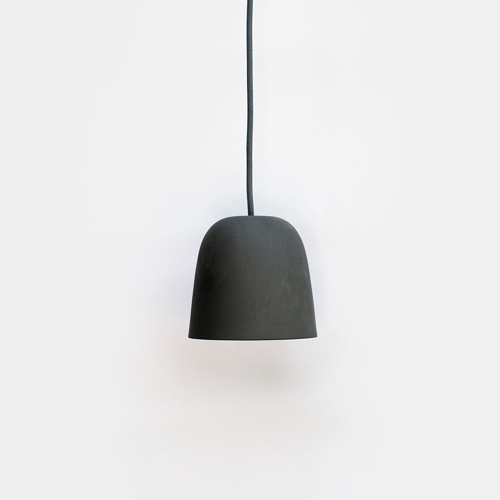 Ceramic Pendant Light Shade - Charcoal