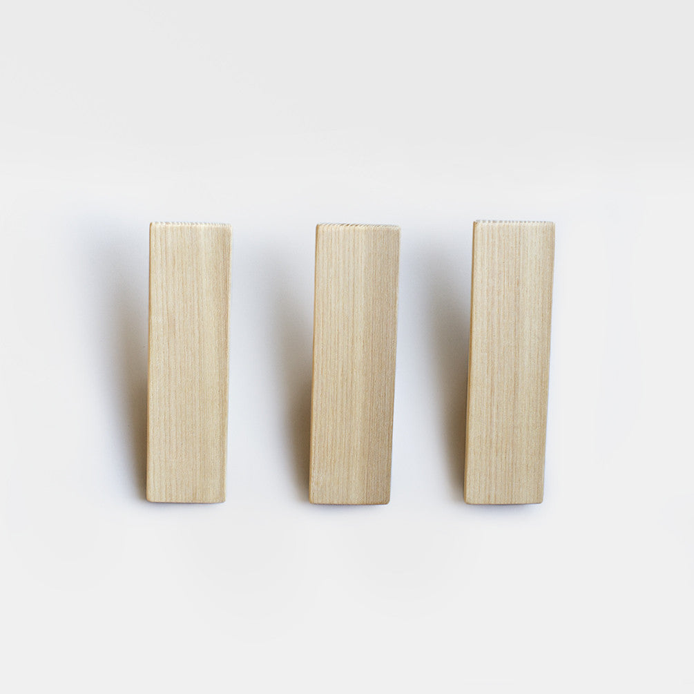 Wooden Wall Hooks - Set of 3