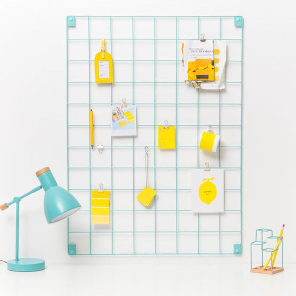 Wire Mesh Memo Board - Blue
