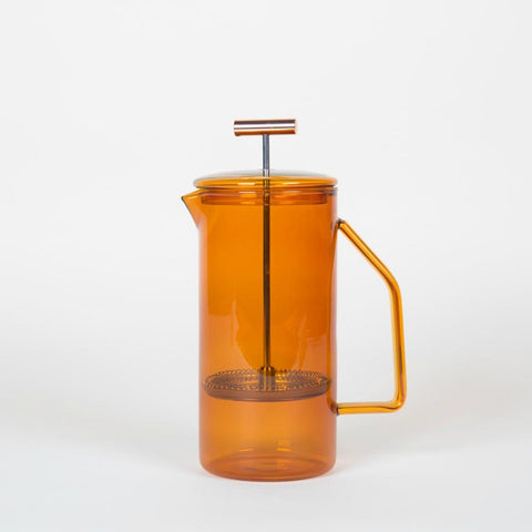 Glass French Press Cafetière - Amber