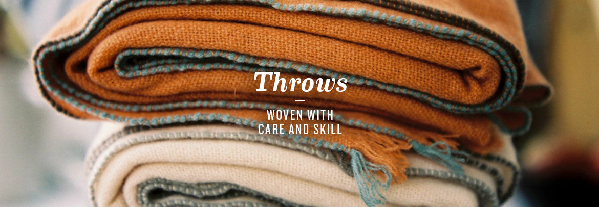 Luxury Cashmere Throws Handwoven