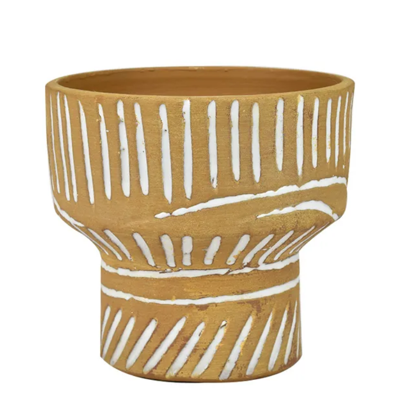 Swell ceramic pot