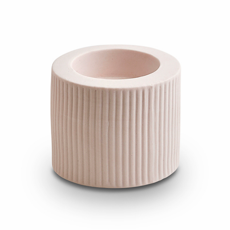 Ribbed Infinity Candle Holder