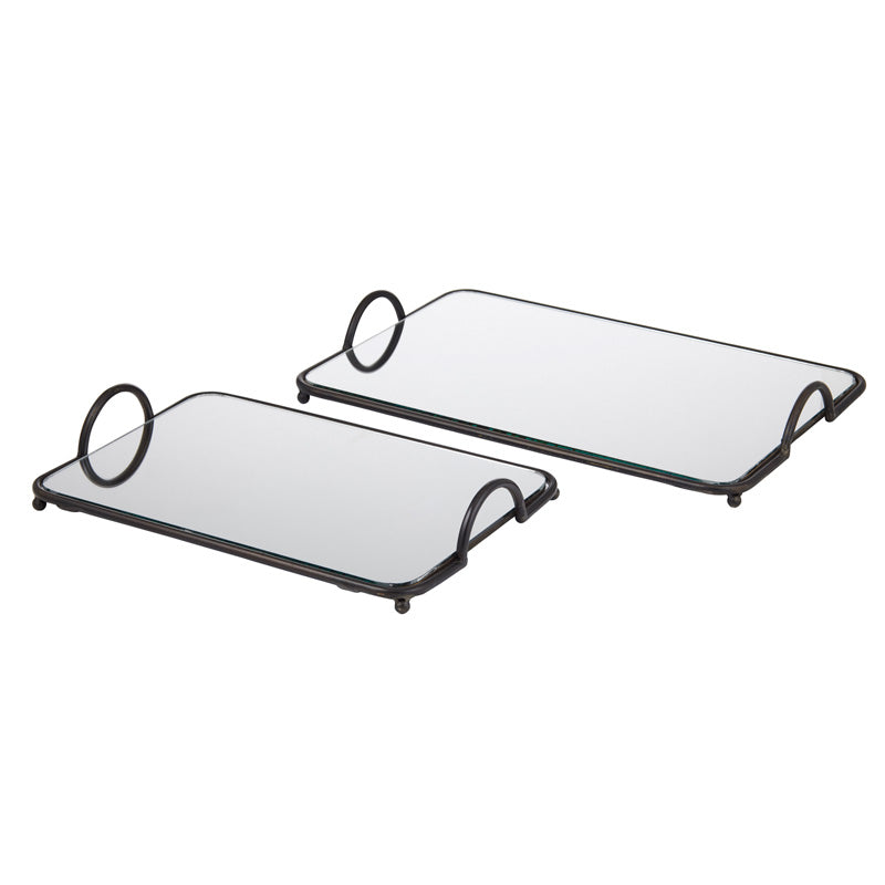 Esta mirror trays- set of 2