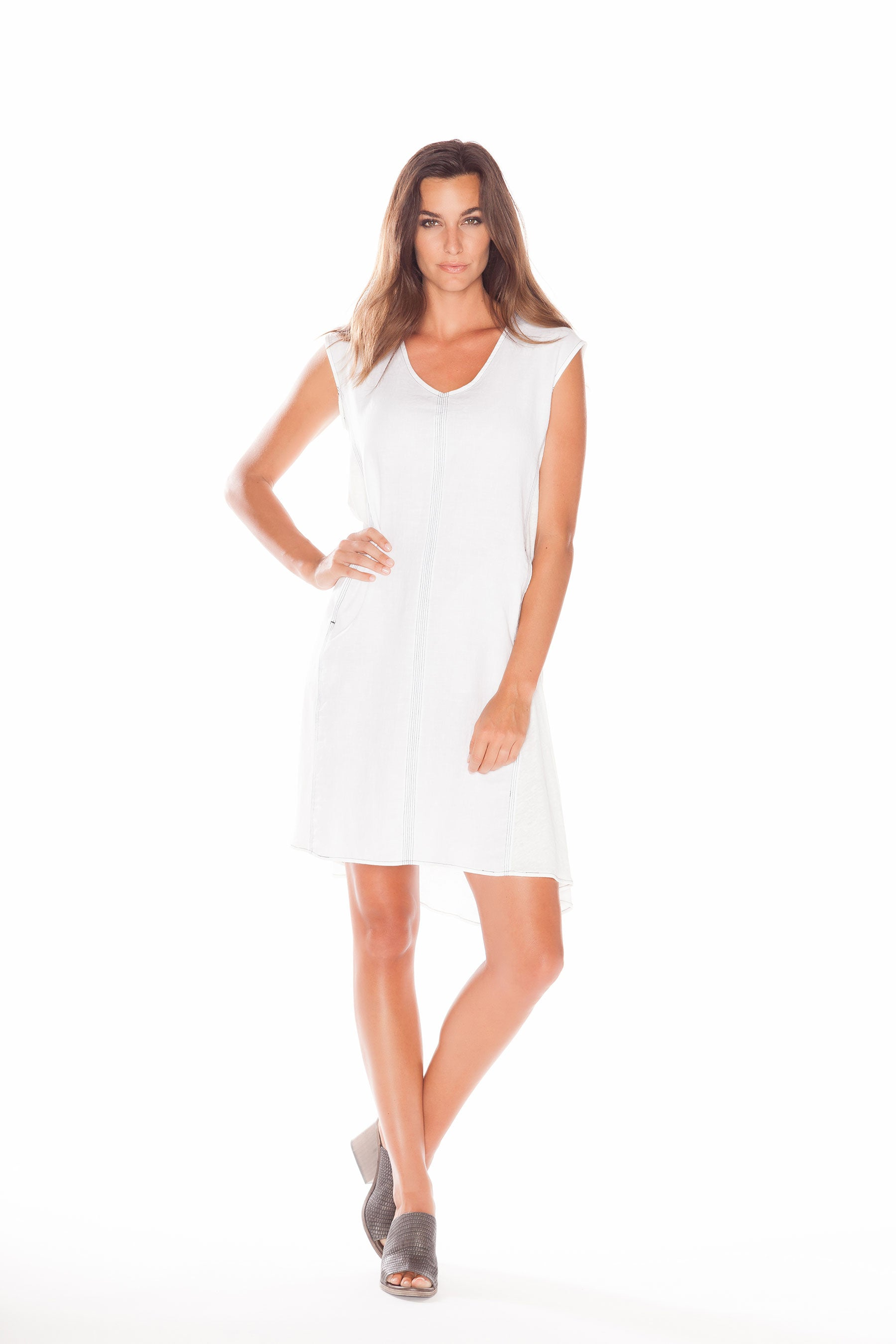 Dress code freestyle - Butonfreestyle Dress Soft White