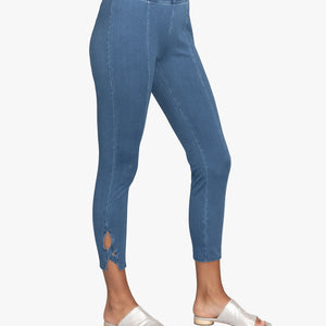 Criss Cross Denim Knit Leggings