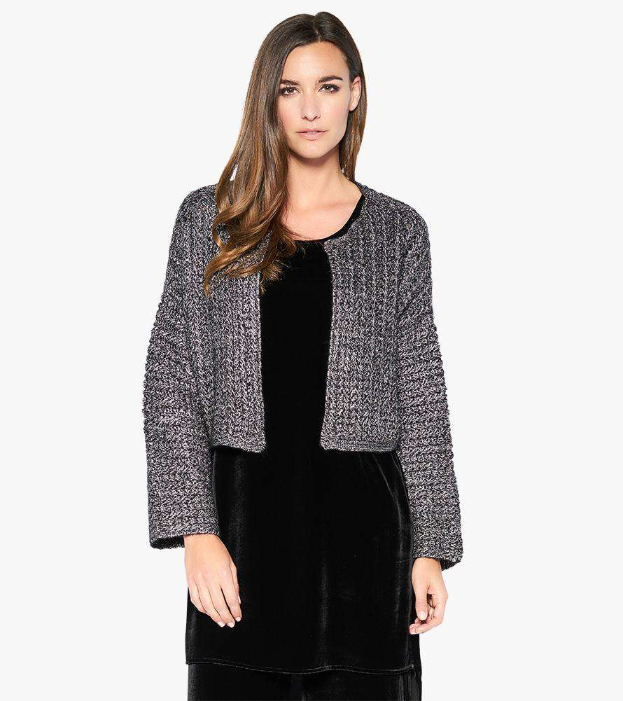 Holding Pattern Cropped Cardigan