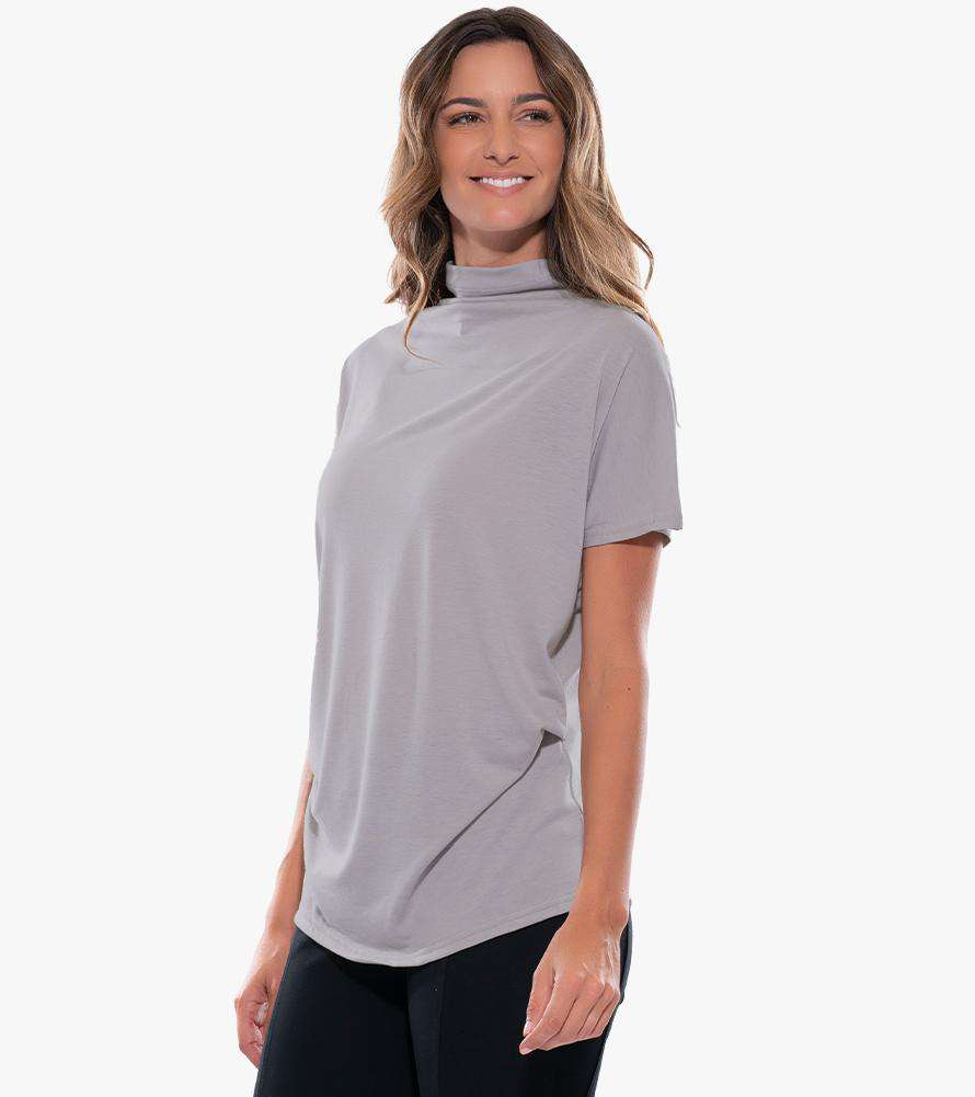 Draped Knit Top | Stella Carakasi | Organic Cotton Jersey Tee | Eco