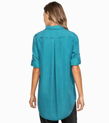 Washed Indigo Tunic - Stella Carakasi - Tops