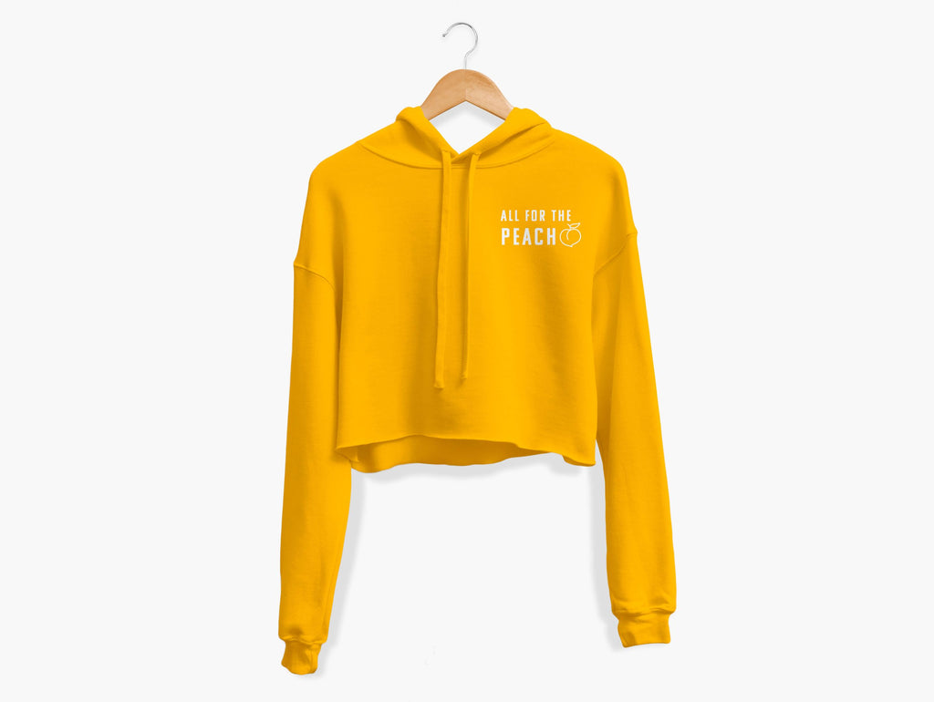 All For The Peach Cropped Hoodie