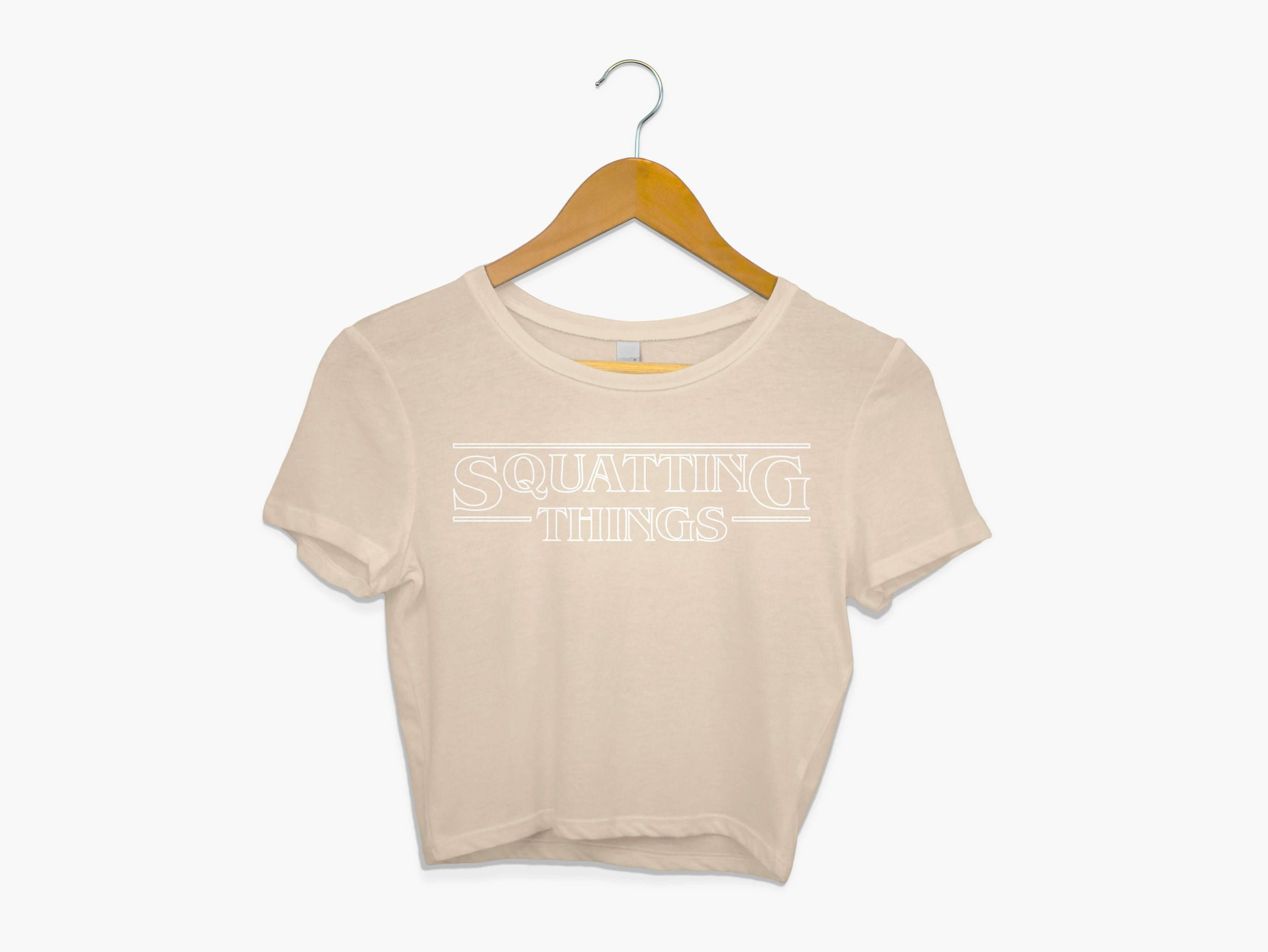 Squatting Things Crop Top