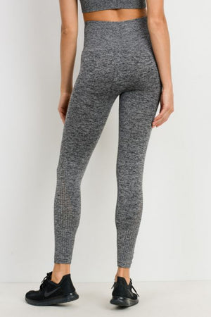 Grey Cascade Seamless Leggings