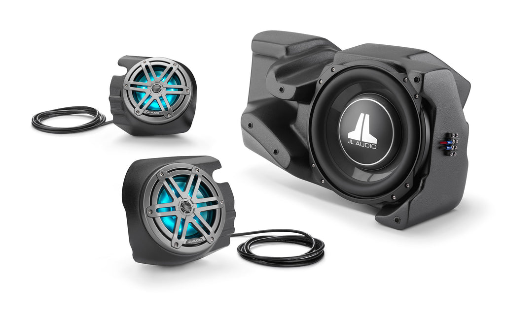 Stealthbox Subwoofer and Speakers for Powersports