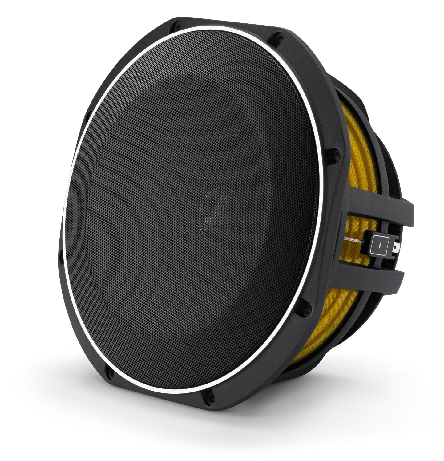 Front of 10TW1 Subwoofer Facing Left with Grille