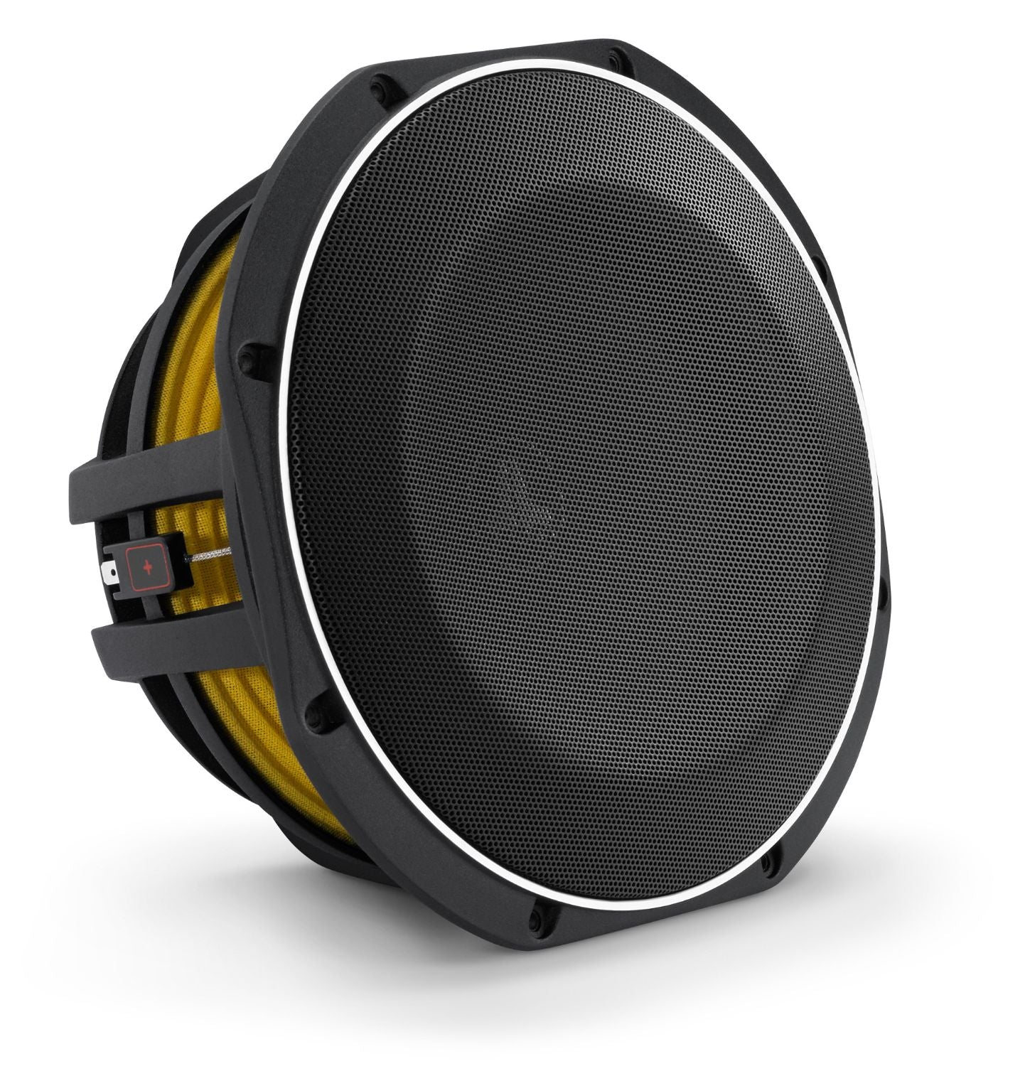 Front of 10TW1 Subwoofer Facing Right with Grille