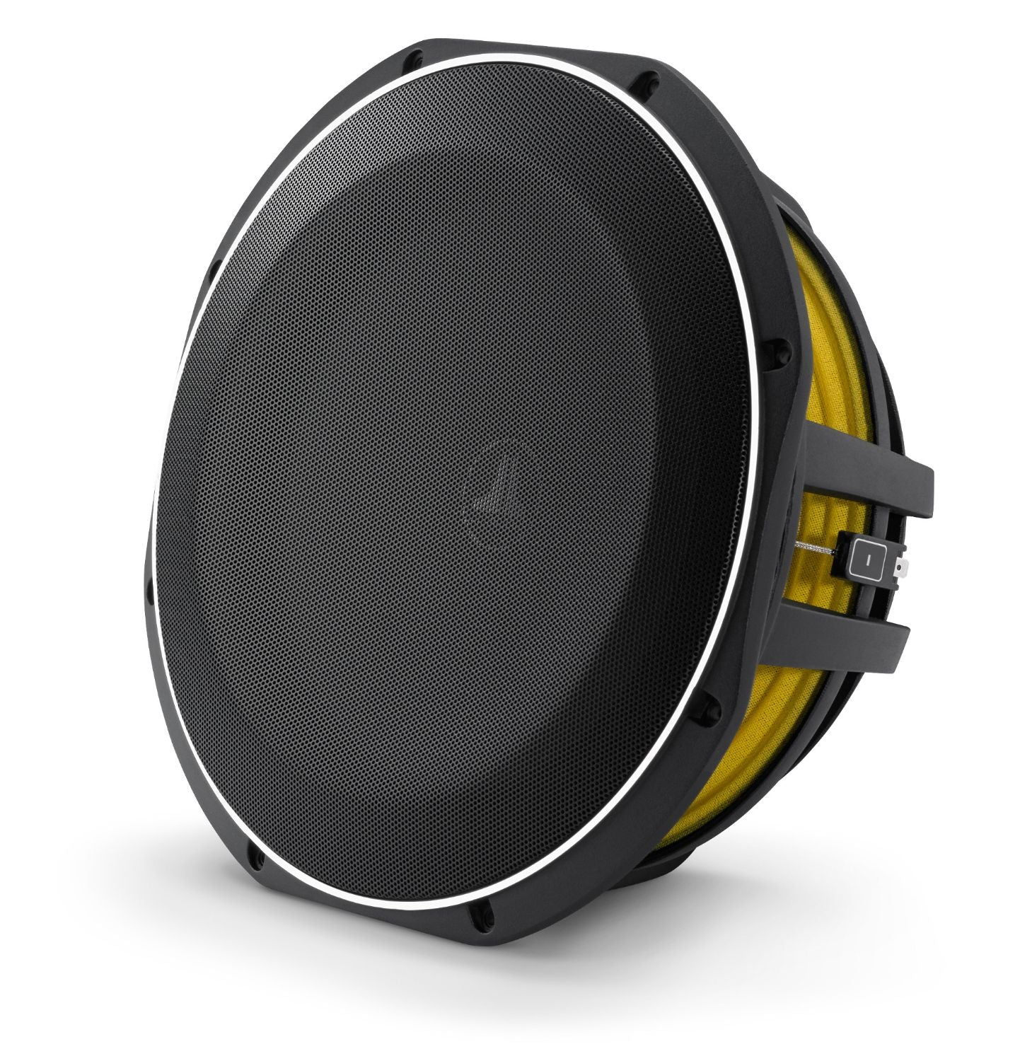 Front of 12TW1 Subwoofer Facing Left with Grille