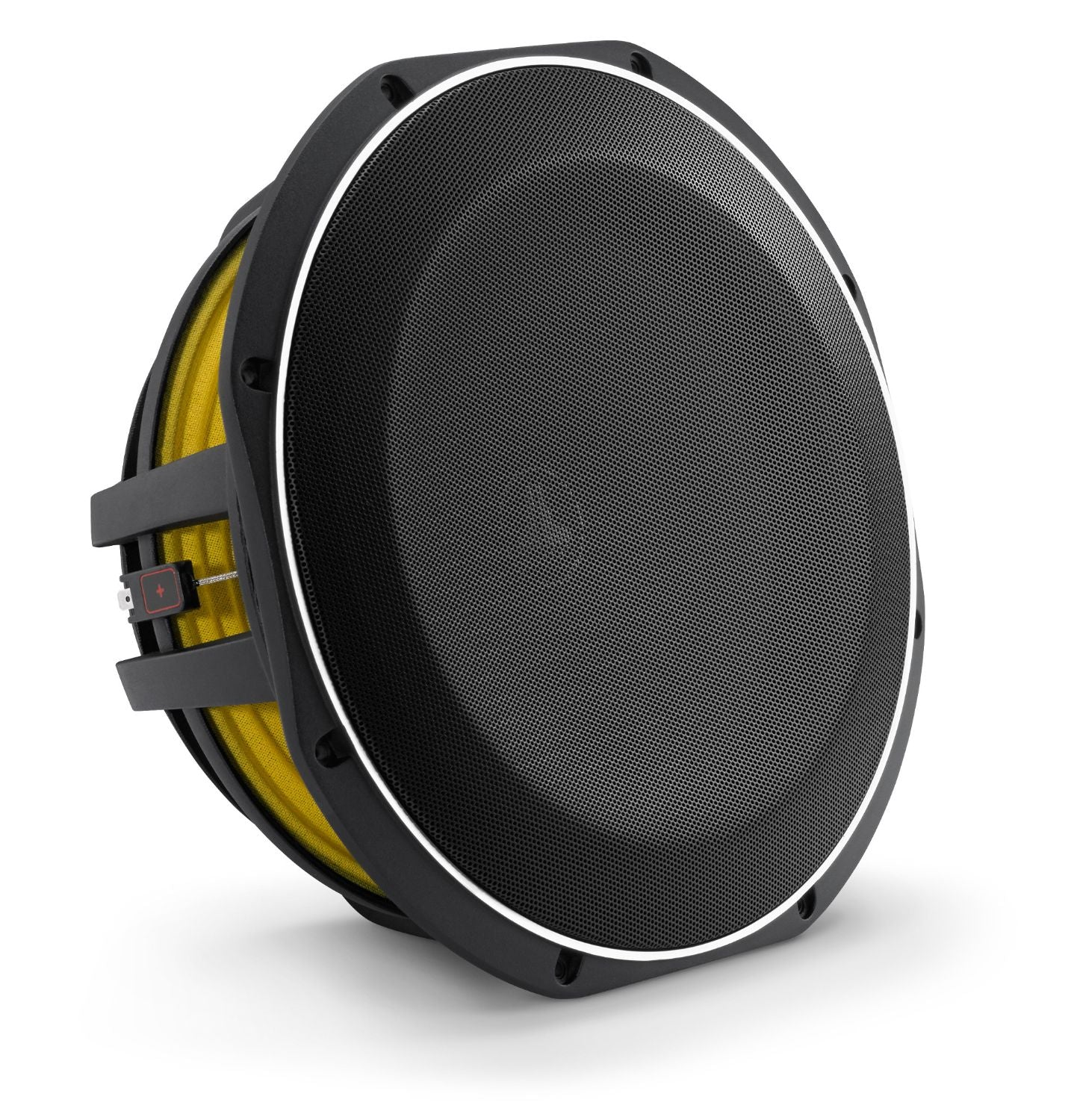 Front of 12TW1 Subwoofer Facing Right with Grille