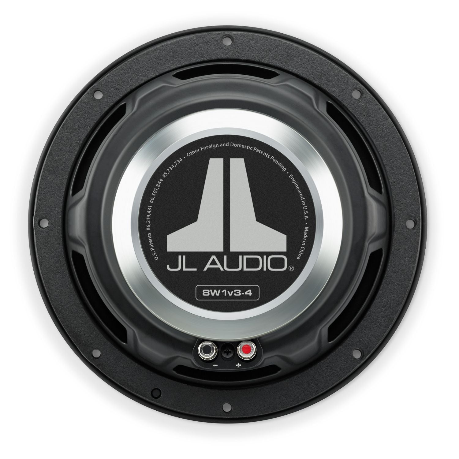 Rear of 8W1v3 Subwoofer Overhead