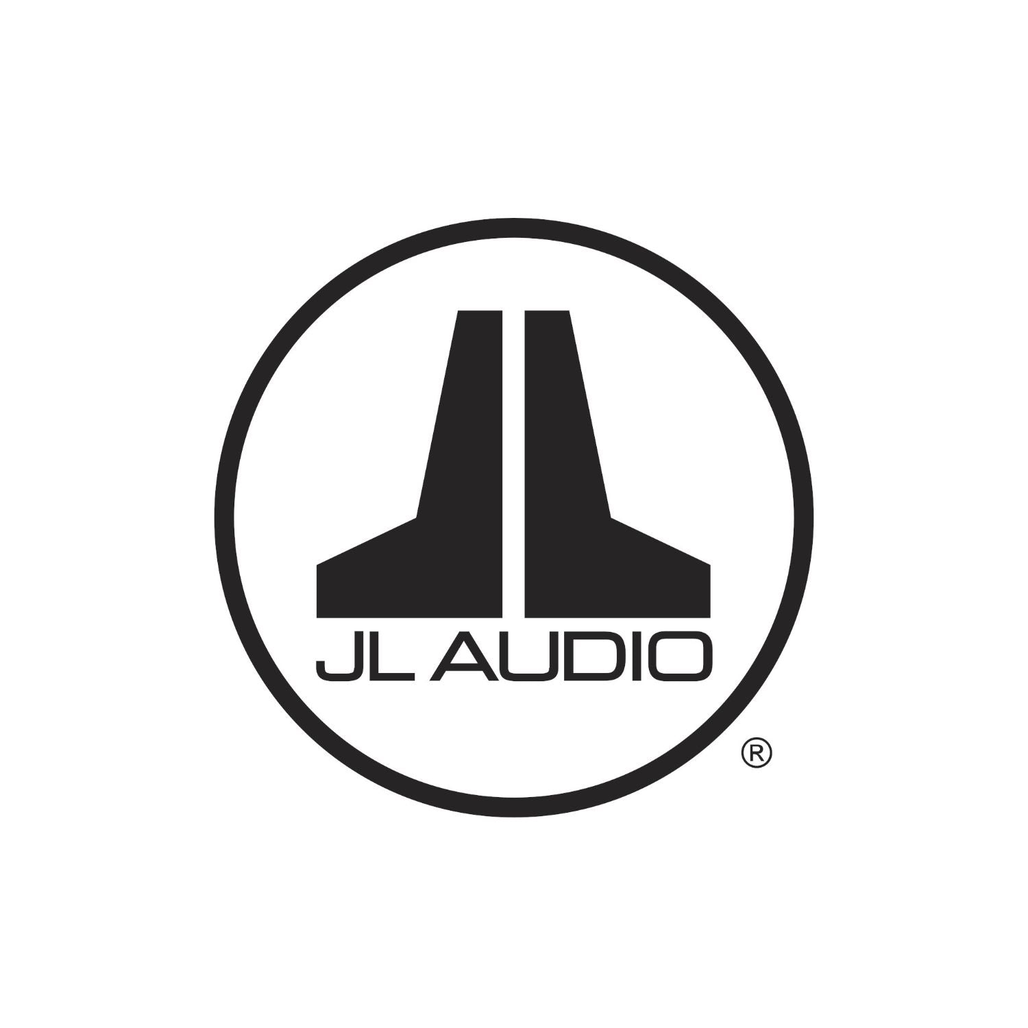 Black JL Audio Badge Logo Decal