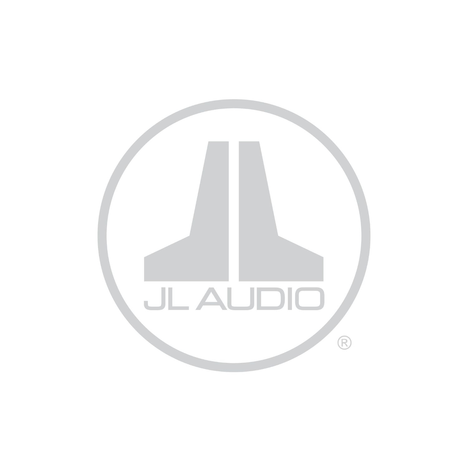 Silver JL Audio Badge Logo Decal