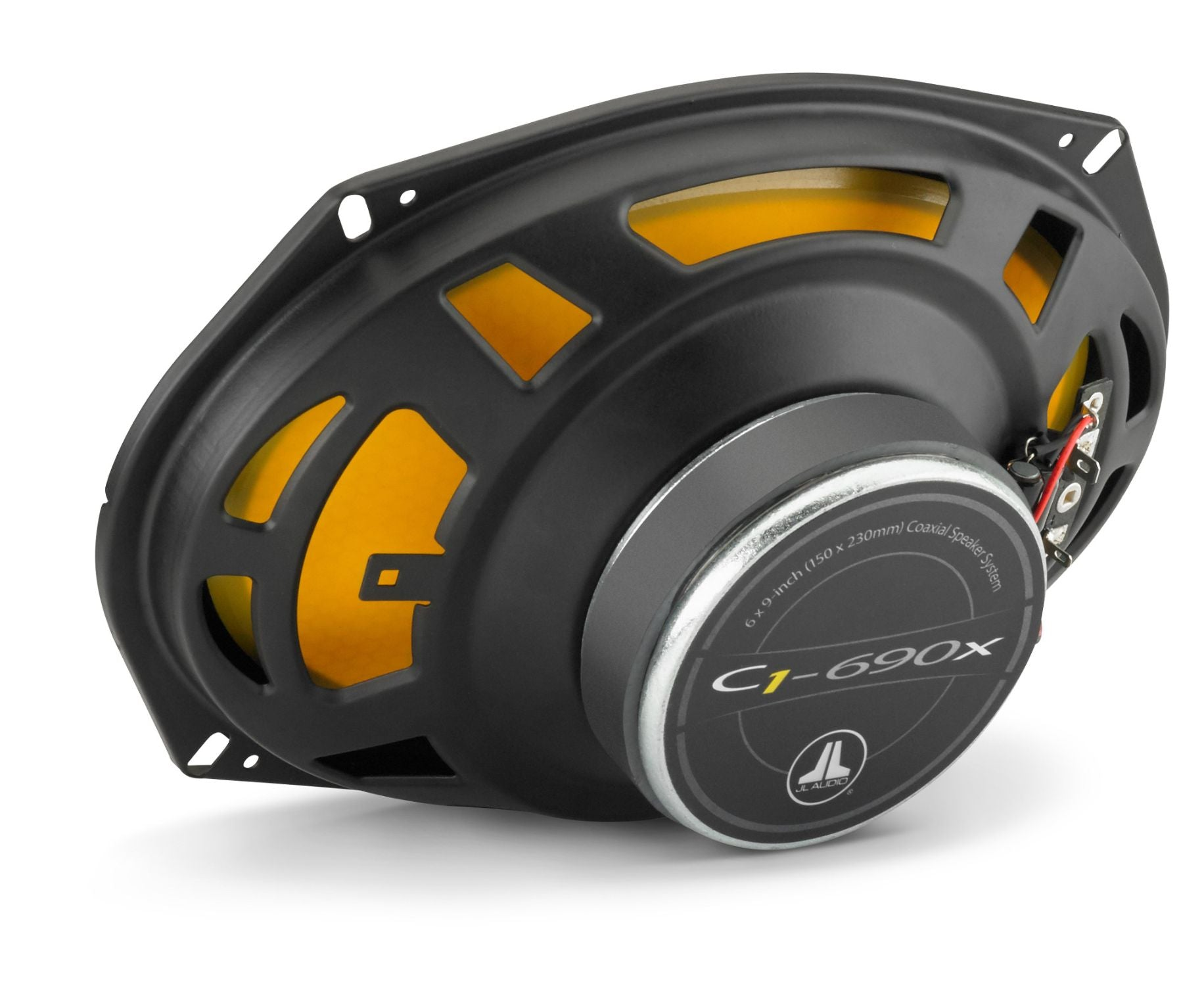 Rear of C1-690x Coaxial Speaker Facing Right